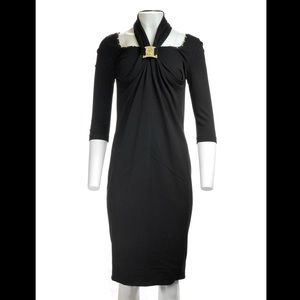 ** Brand New**  Halter neck w/ gold buckle dress